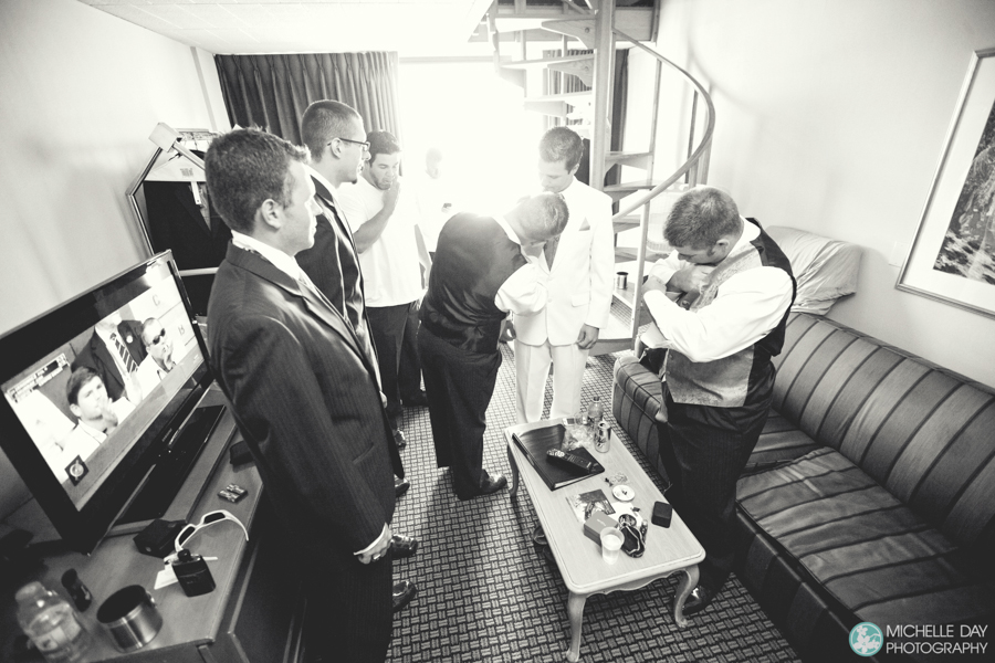 Groom and groomsmen preparation