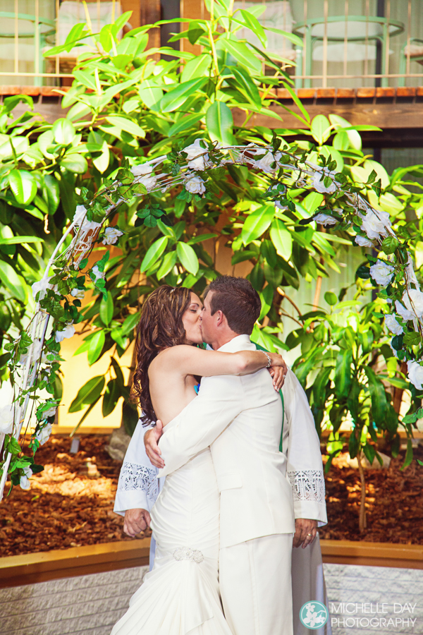 kiss at the end of the ceremony