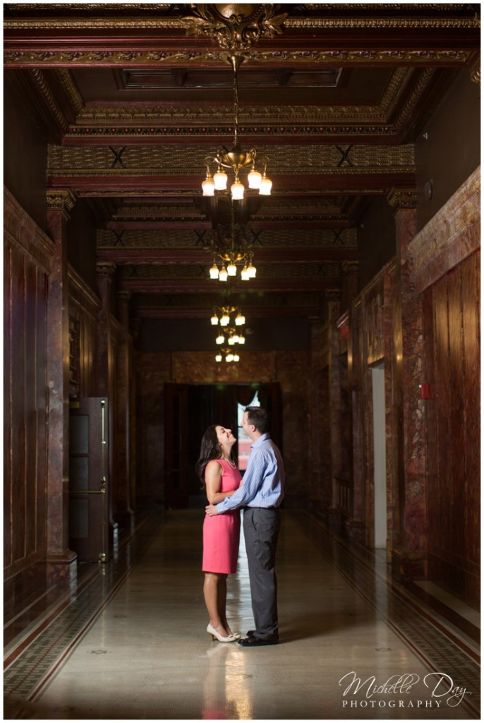 Buffalo NY Engagement Photographers, Hotel Lafayette,  Buffalo Engagement Photographer